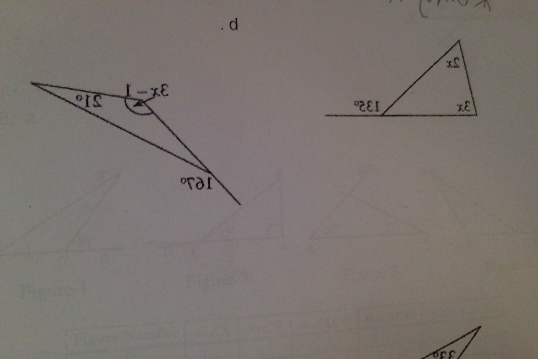 How do i solve exterior angles on triangles picture What do exterior angles of a triangle add up to