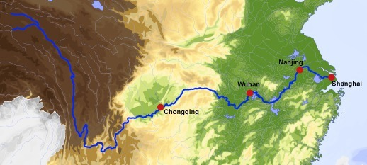 The map below identifies which of the following rivers? The Huang He ...