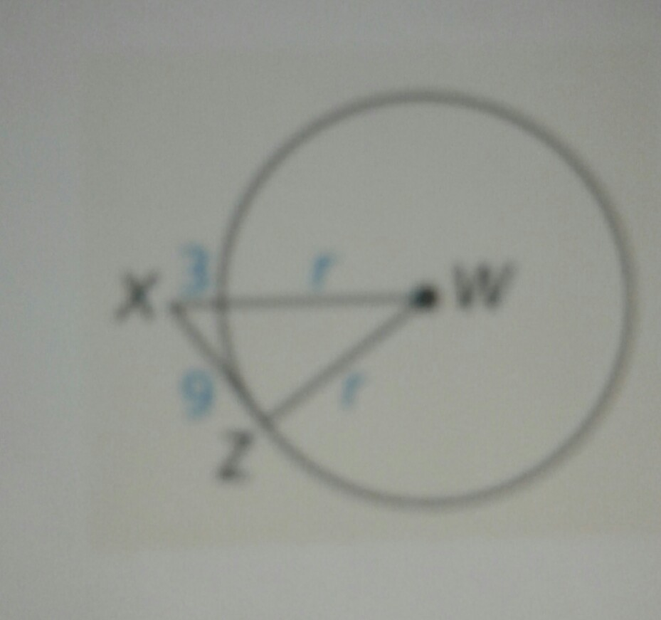 how to find point of tangency on a circle