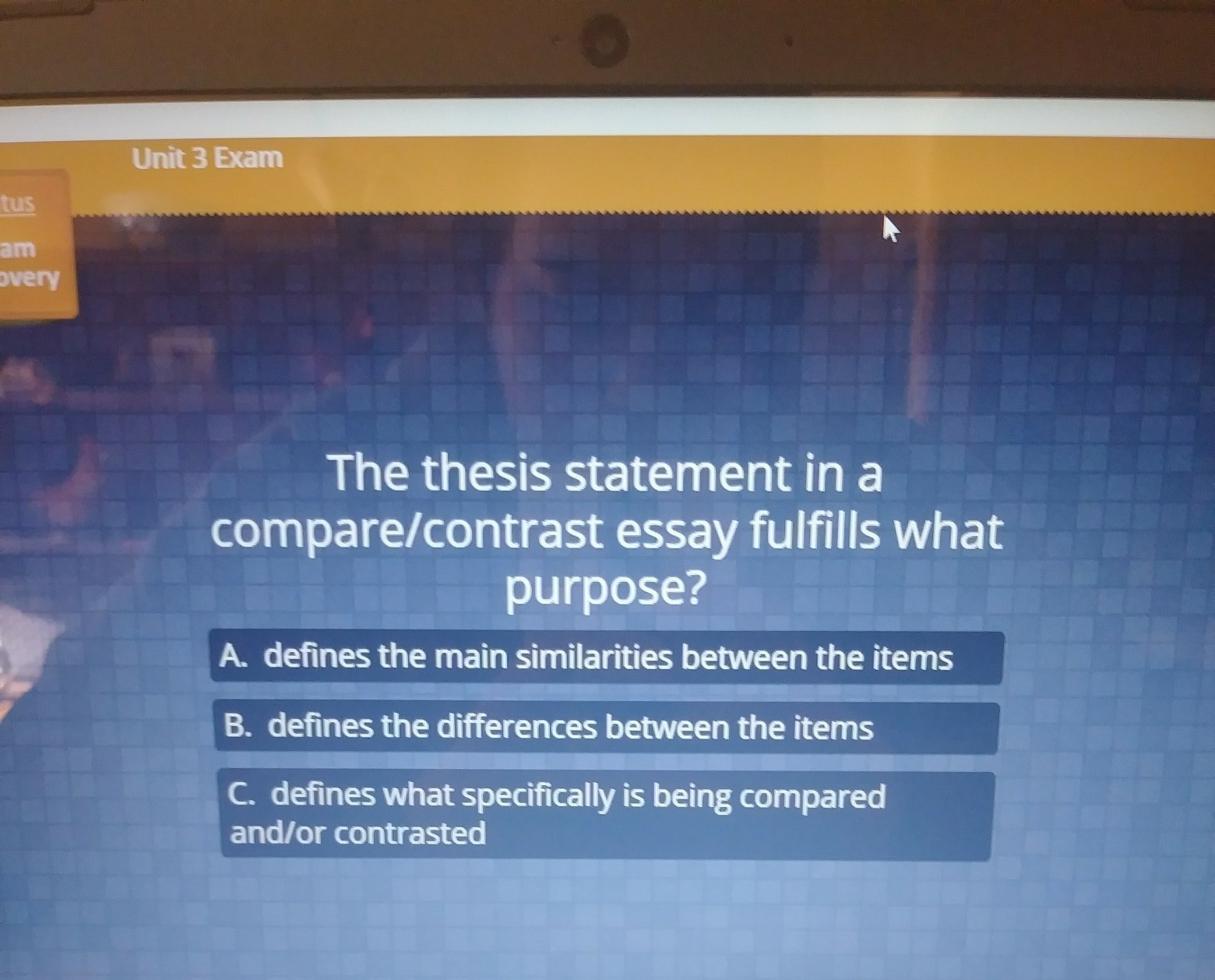 the thesis statement in a comparecontrast essay fulfills what  the thesis statement in a comparecontrast essay fulfills what purpose   brainlycom