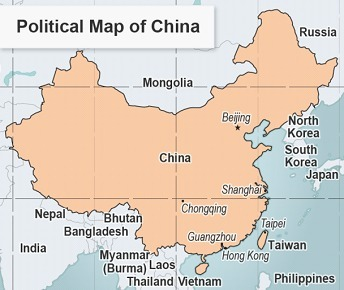 Read the political map of China. What information does this ... China Political Map on