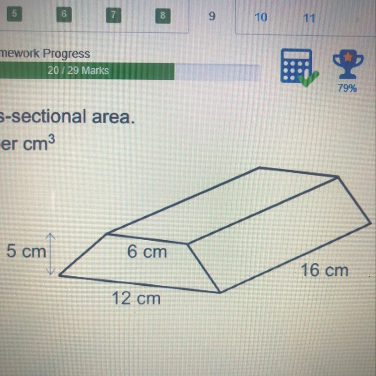 The gold bar has a trapezium cross-sectional area. Gold ...