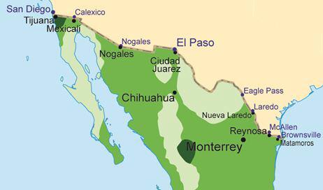 Nogales mexico map
