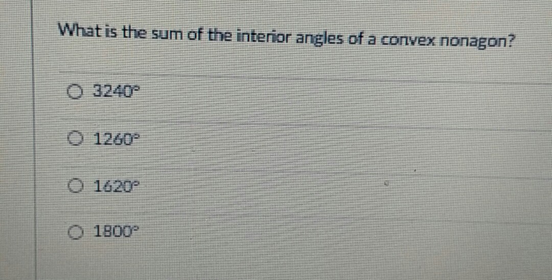 What Is The Sum Of Interior Angles Of A Convex Nonagon
