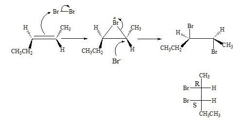 Draw The Mechanism Including The Intermediate Bromonium Ion