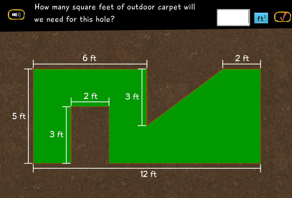 how many square feet of outdoor carpet will we need for this hole. Black Bedroom Furniture Sets. Home Design Ideas