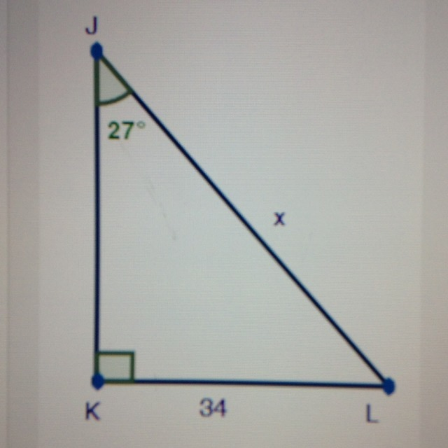 In triangle JKL, solve for x - Brainly.com