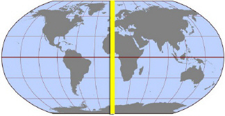 International Date Line On World Map.See The World Map Above What Is The Name Of The Highlighted Line That