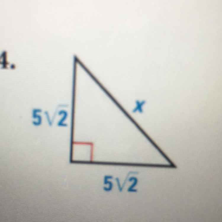 Find The Value Of X. Write Your Answer In Simplest Radical