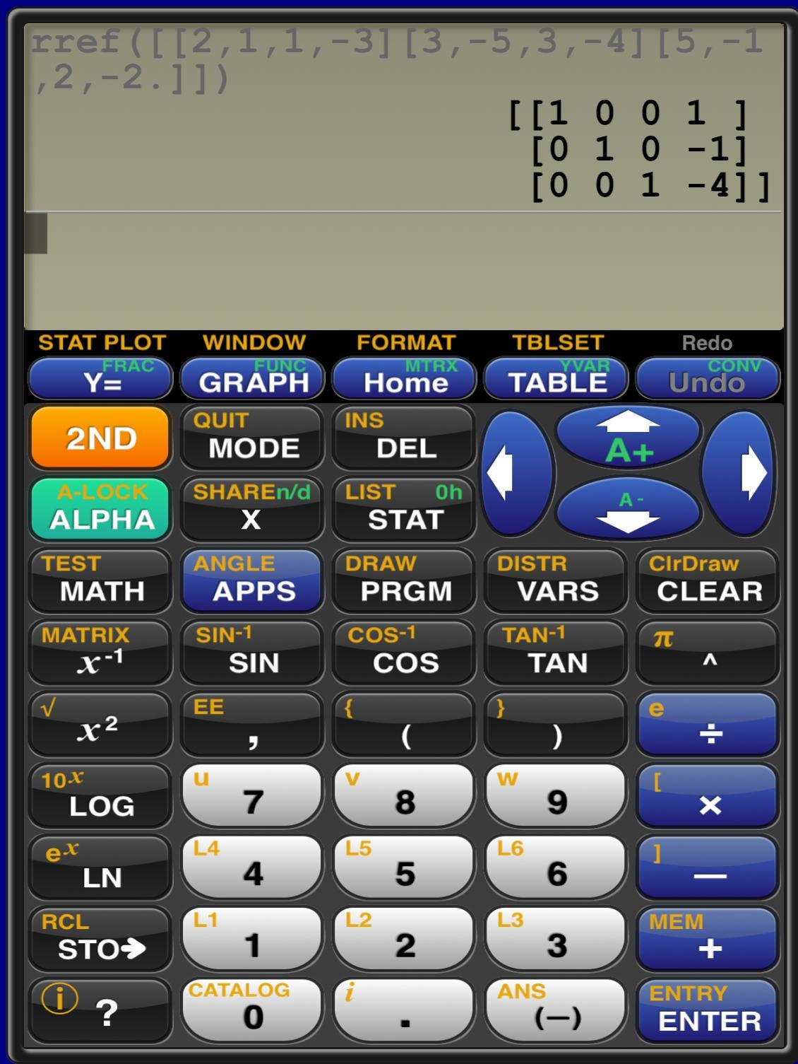 Solve the system of equations by finding the reduced row-echelon form of the augmented matrix ...