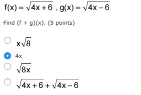 f as a function of x is equal to the square root of ...