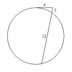 The figure consists of a tangent and a secant to the circle