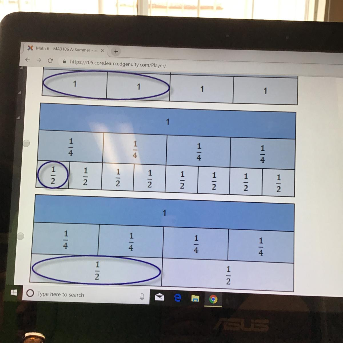 Which Diagram Best Shows How Fraction Bars Can Be Used To
