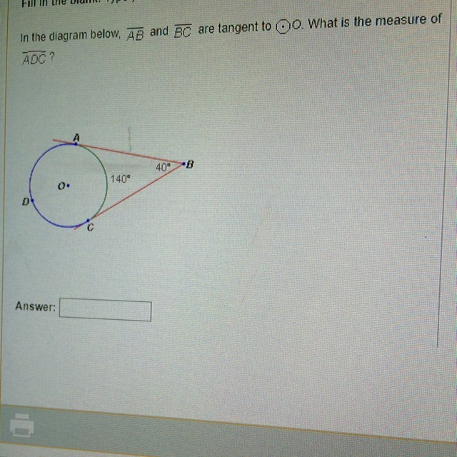 In The Diagram Below  An And Bc Are Tangent To O  What Is