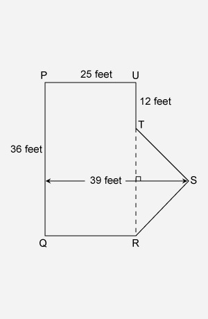 The Figure Pqrstu Represents The Shape Of The Parking Lot At A Shopping Mall What Is The Area Of The Brainly Com