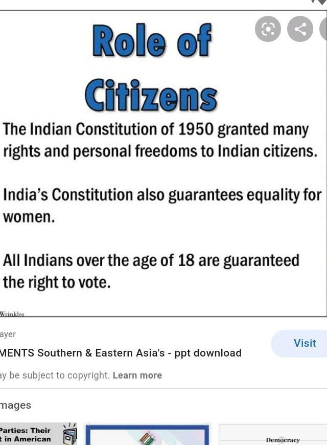 What Role Do India's Citizens Play In Choosing The Government Leaders? -  Brainly.com
