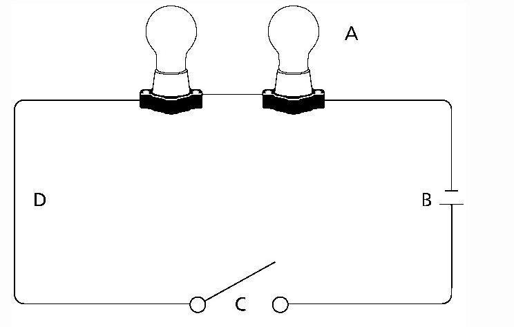 the following diagram shows a simple circuit which labeled. Black Bedroom Furniture Sets. Home Design Ideas