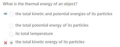 What Is The Thermal Energy Of An Object A Its Total