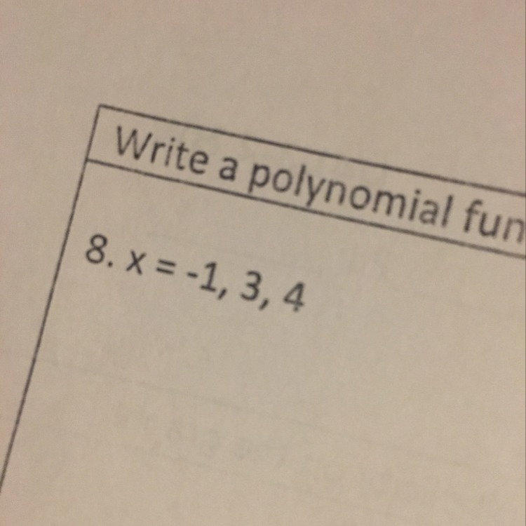 How Do You Write A Polynomial Function In Standard Form With The