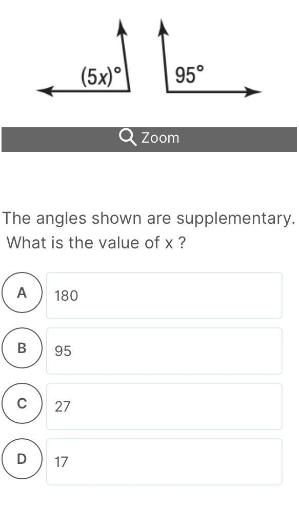 The Angles Shown Are Supplementary. What Is The Value Of X ? - Brainly.com