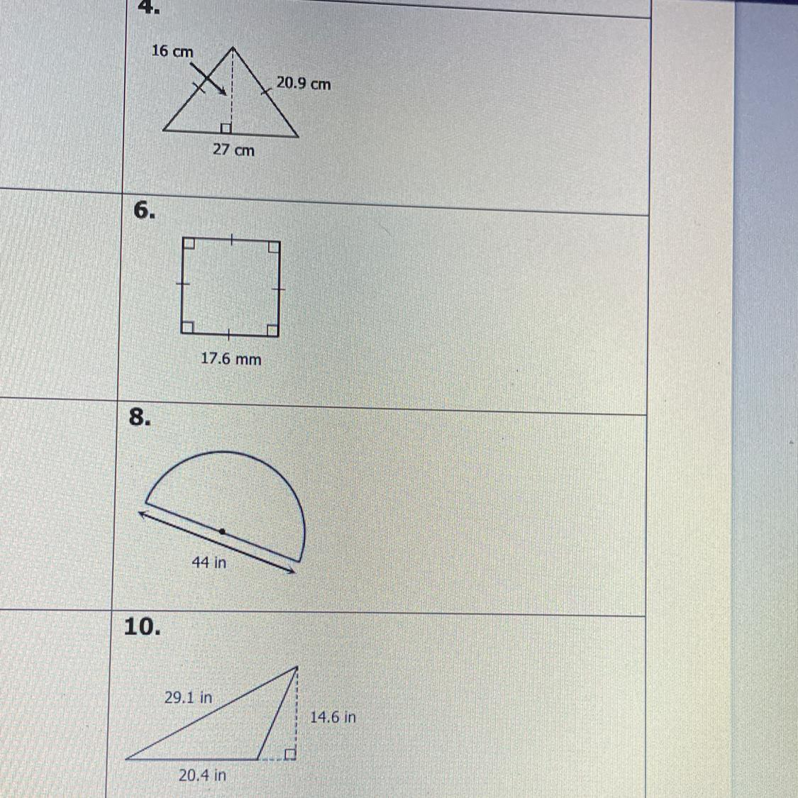 Unit 11: Volume and Surface Area Homework 1: Area of Plane ...