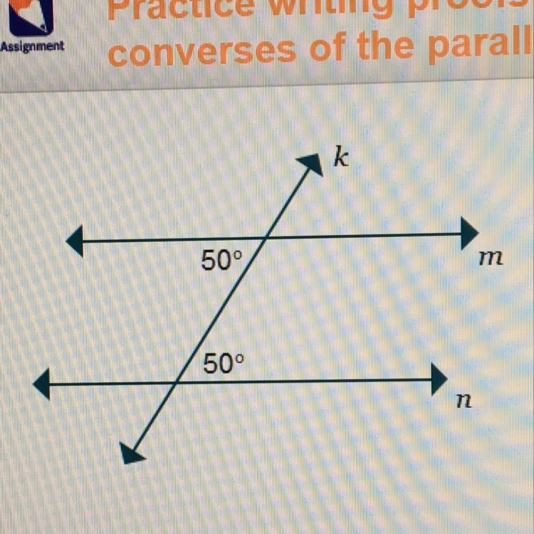 Which theorem correctly justifies why the lines m and n - Alternate exterior angles converse ...