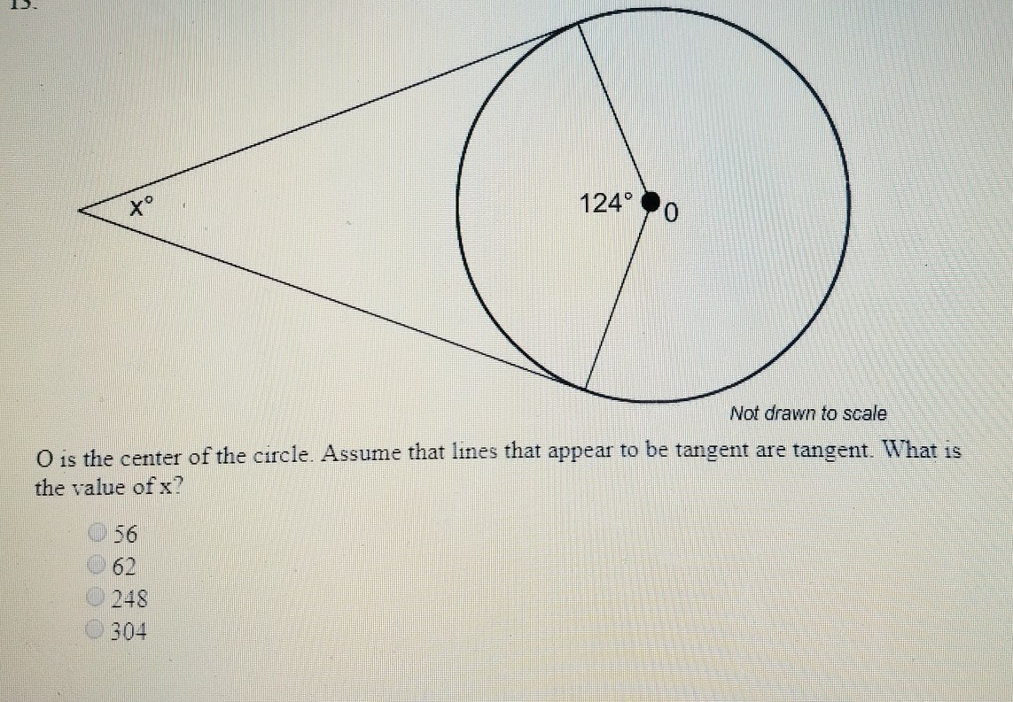 Easy math problem, please help.O is the center of the circle. Assume ...