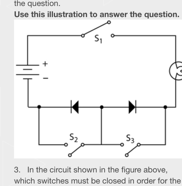 In the circuit shown in the figure above, which switches must be ...