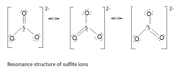 Explain The Resonance Structures For The Sulfite Ion  So32