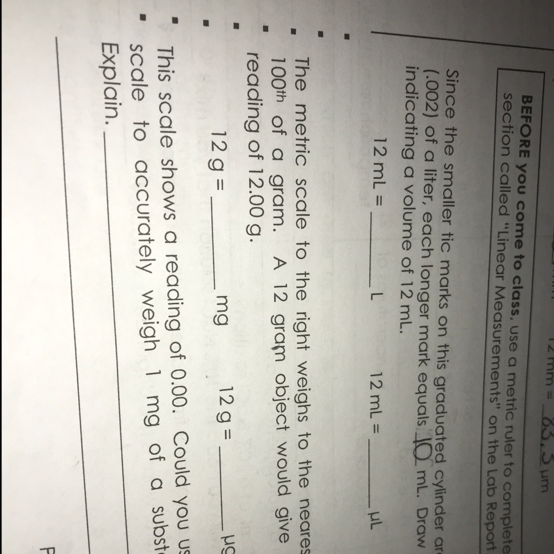 What Equals To 12 G Into Mg And 12 Grams Into Ng Same For The Second Question Inly Com