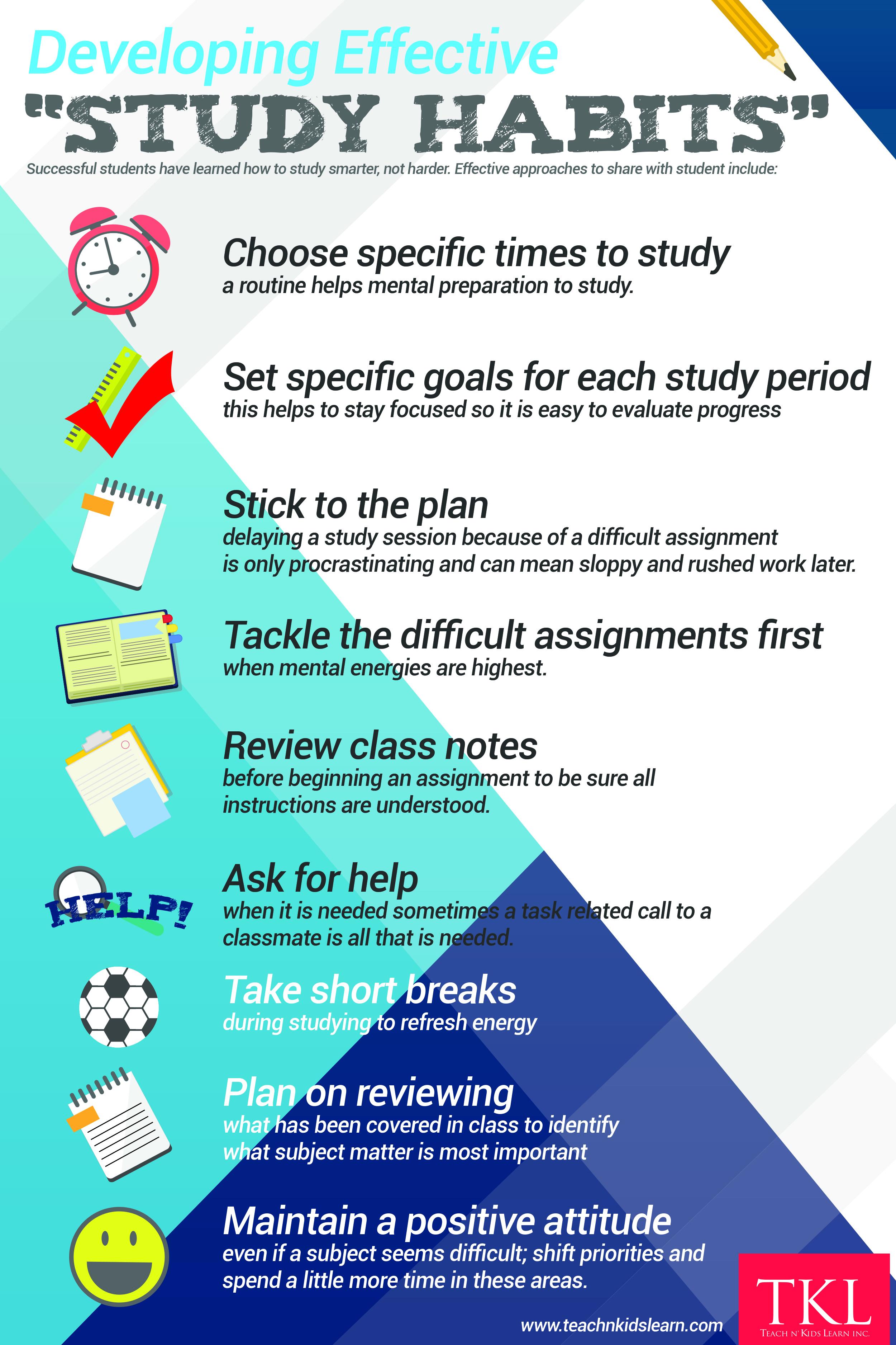 good study habits for high school students
