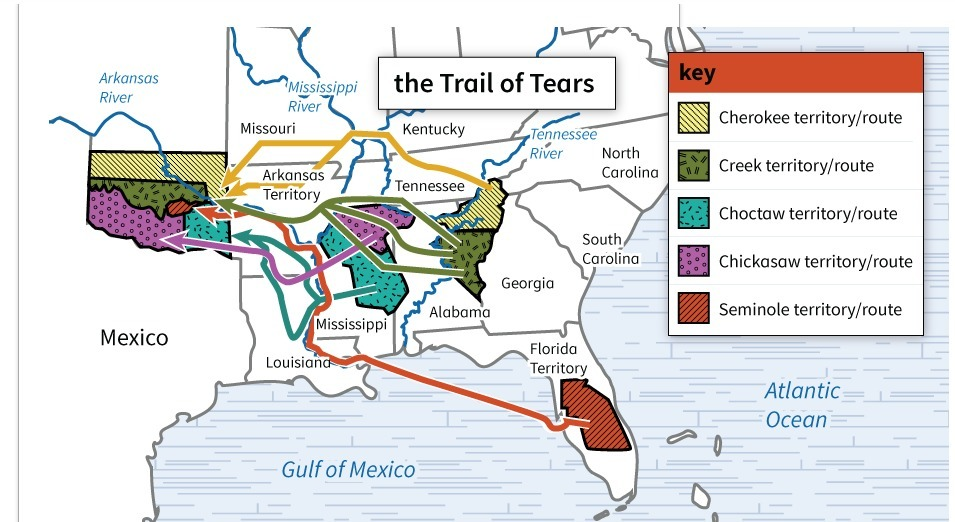 How does this map show the challenges faced by Native