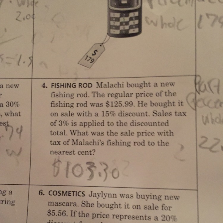 what was the sale price with tax of malakai is fishingrod to the