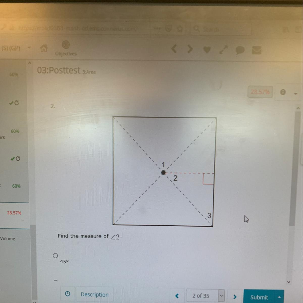 Find The Measure Of Angle 2 Brainly Com