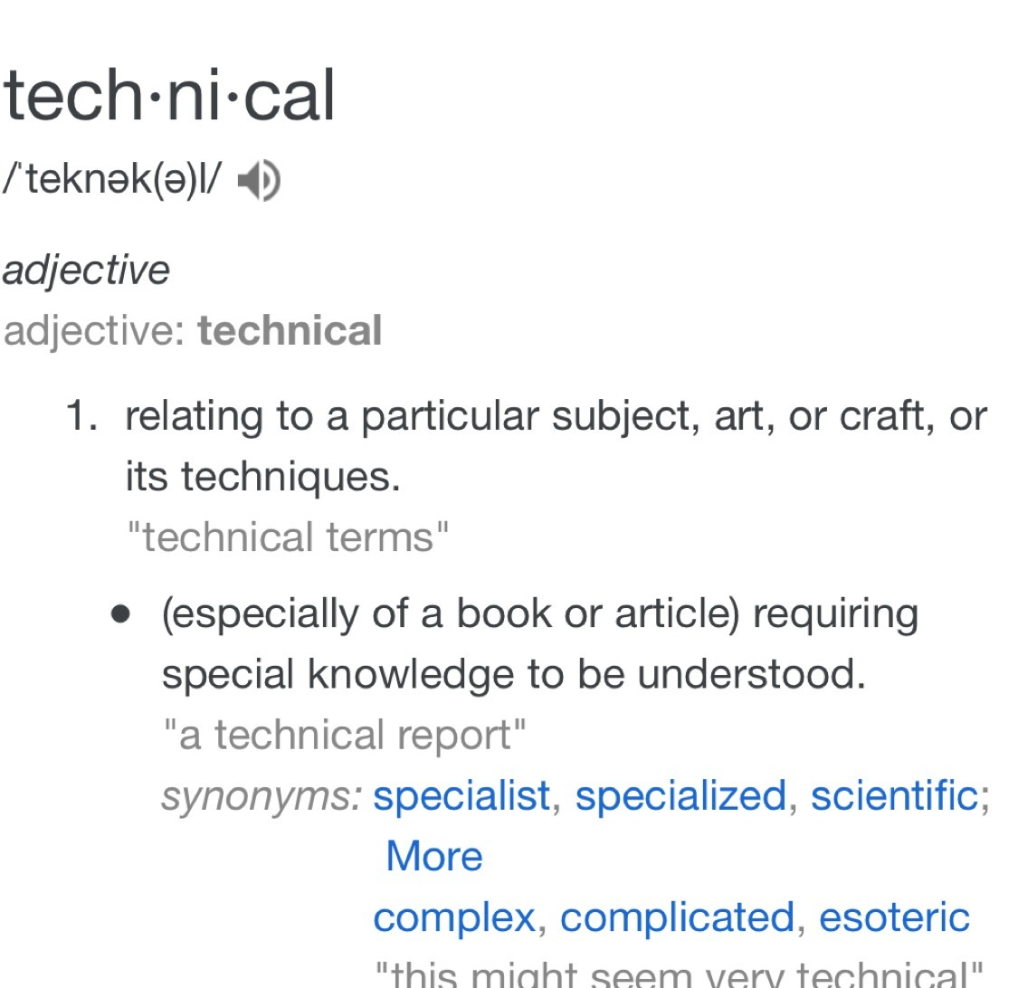 What does technical mean? - Brainly com