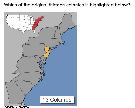 Which of the original thirteen colonies is highlighted below ... on