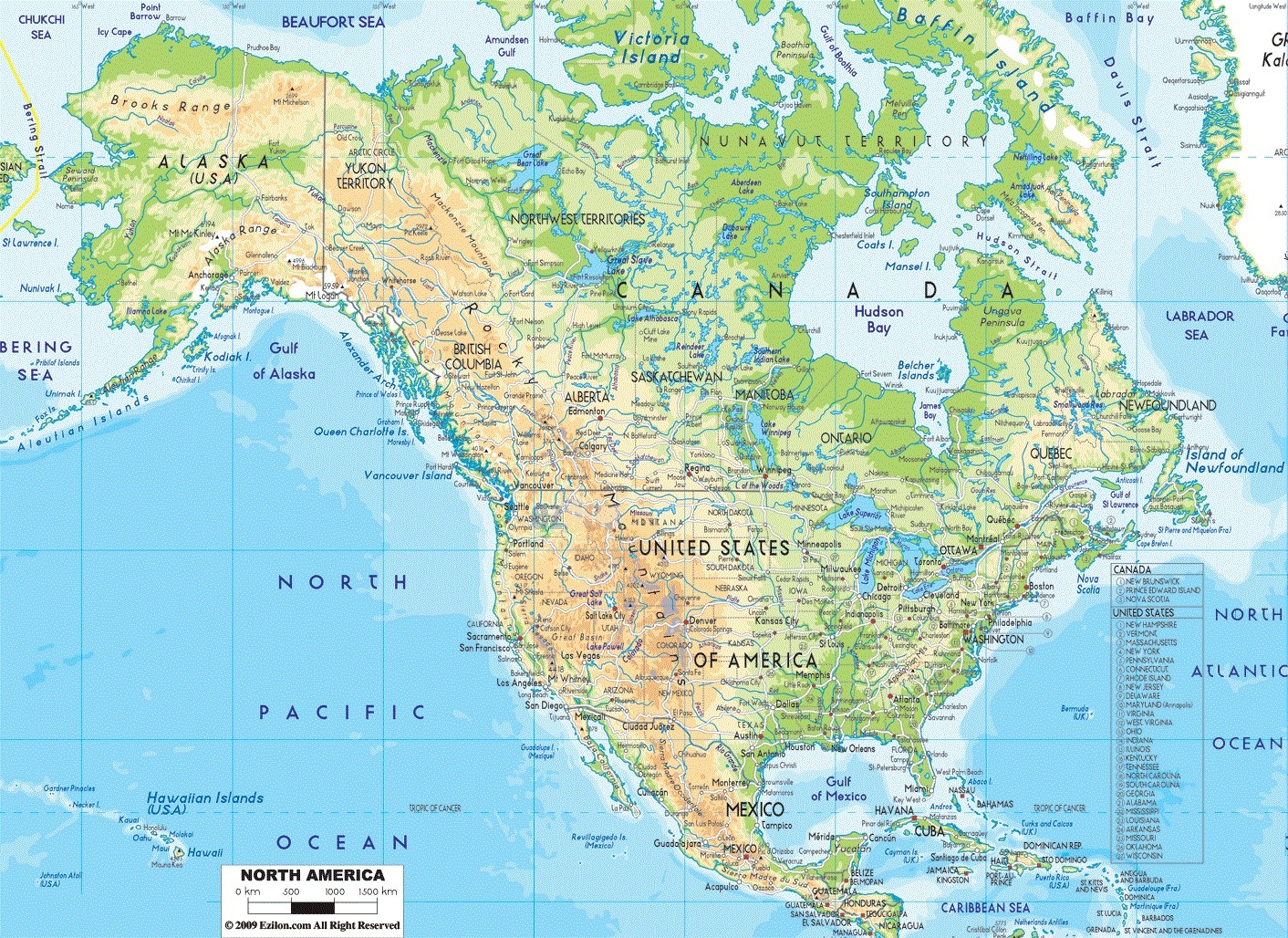 Map Of Maine Map Of Alabama Map Of New Jersey US River Map Map - Physical map of colombia