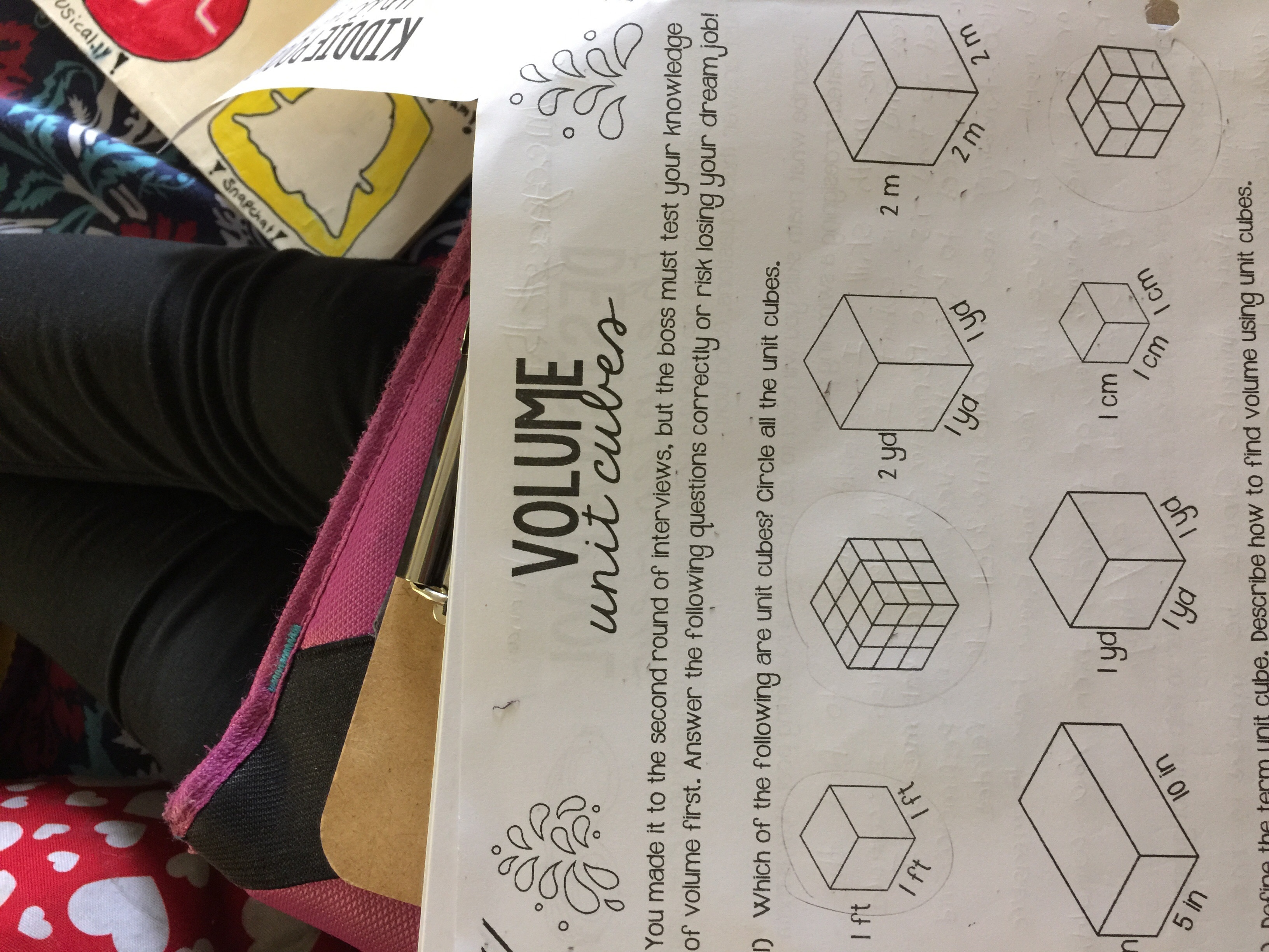 1 Example Worksheets How To Find Volume Of Cubes