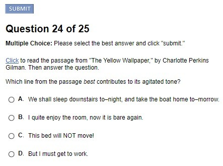 Click To Read The Passage From The Yellow Wallpaper By Charlotte Perkins Gilman Then Answer The Brainly Com