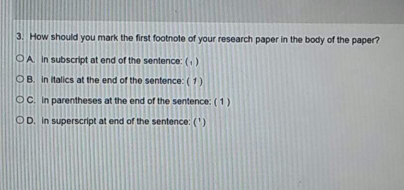 what is a footnote in a research paper