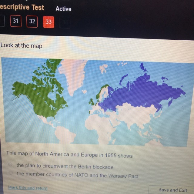 This map of North America and Europe