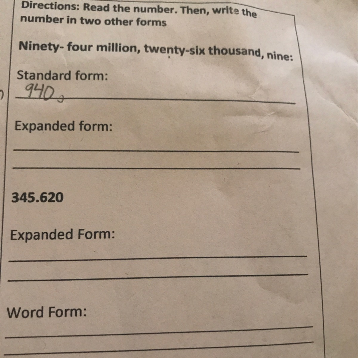 How Do You Write These Numbers In Standard And Expanded Form