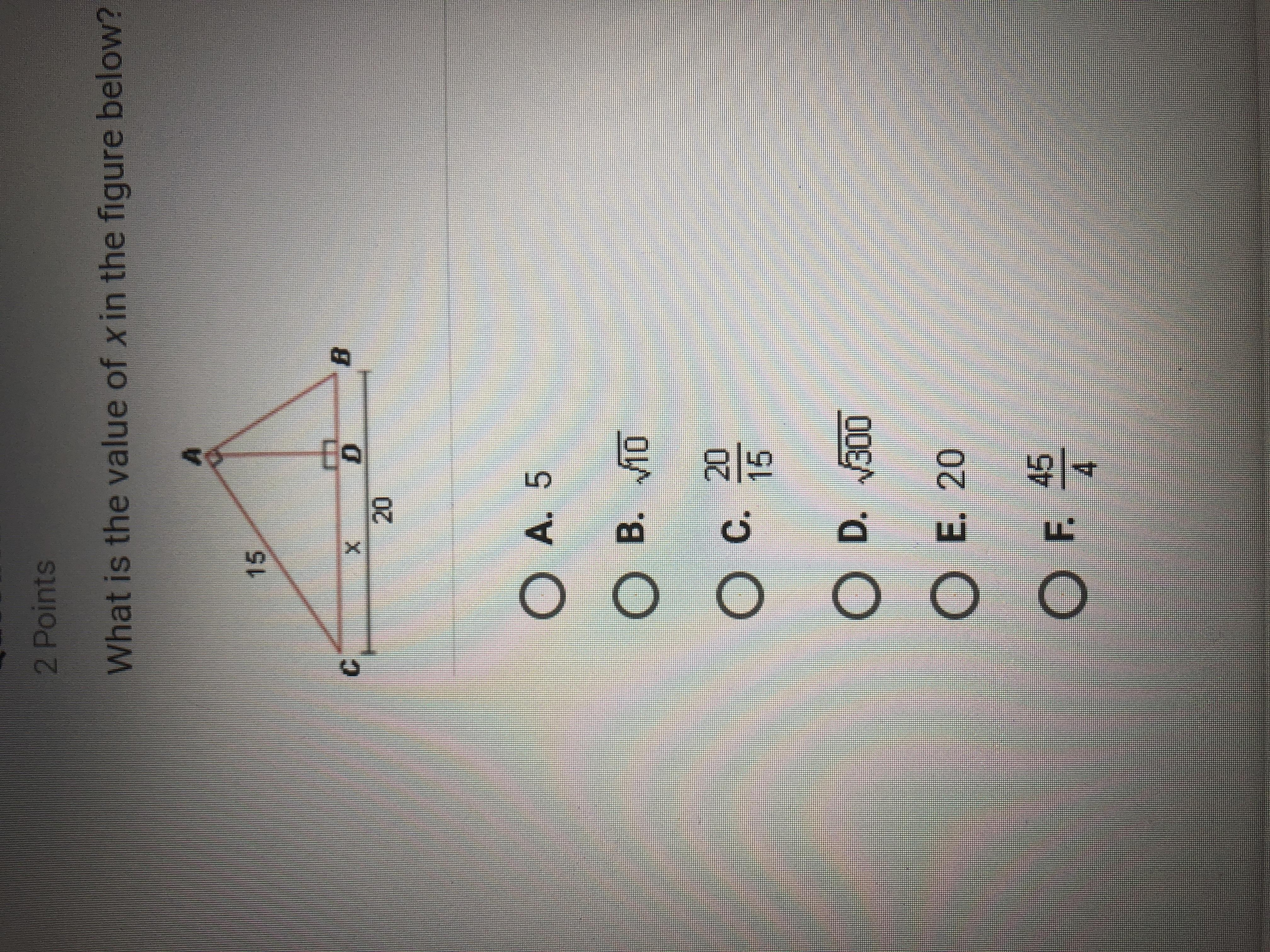 What Is The Value Of X In The Diagram Below