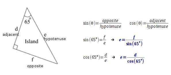 The Picture Shows A Triangular Island Which Expression Shows The