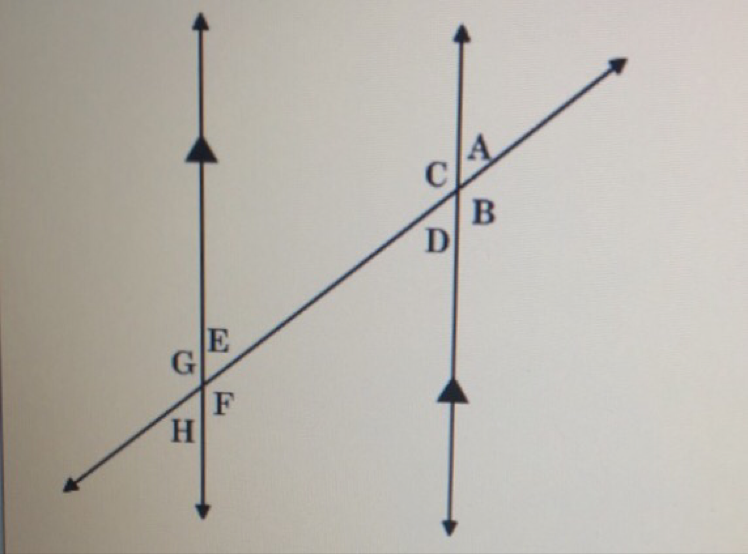 Name a pair of alternate interior angles in the picture - Which of the following are exterior angles ...
