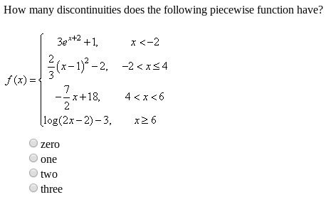 How Many Discontinuities Does The Following Piecewise Function Have