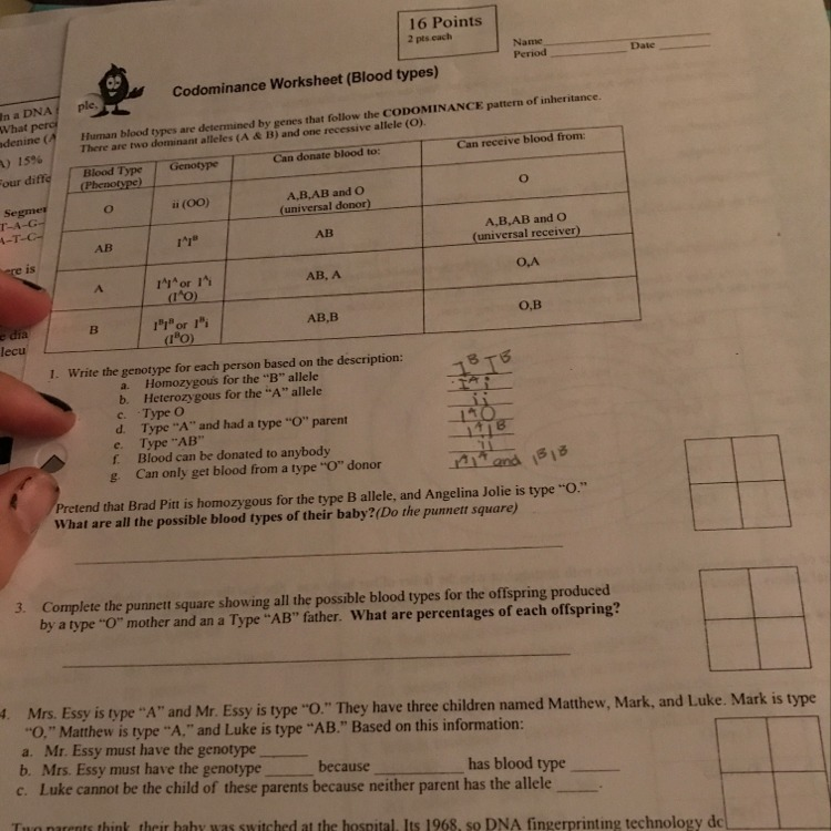 Codominance Worksheet Blood Types Answers The Best and Most – Codominance Worksheet Blood Types