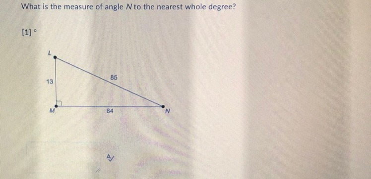 What Is The Measure Of Angle N To The Nearest Whole Degree